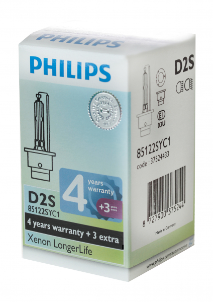 Philips D2S 85122SYC1 Xenon Brenner Longer Life