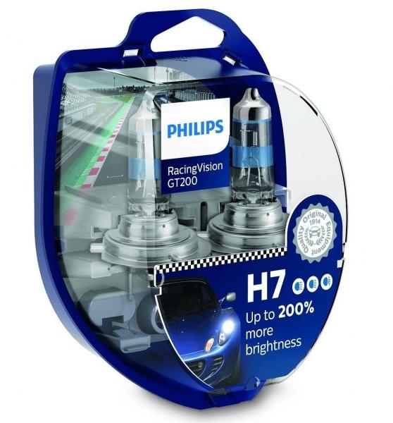 Philips H7 12972RGT RacingVision GT200 Halogen Scheinwerferlampen Duo-Box (2 Stück)