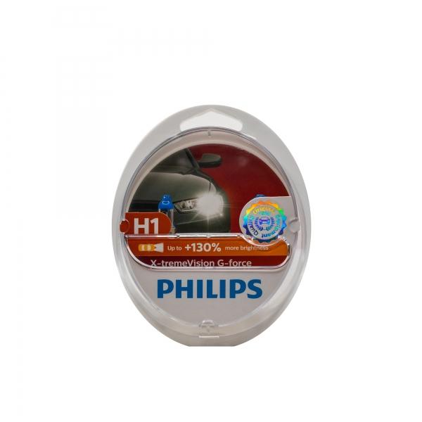 Philips H1 X-tremeVision G-force Scheinwerferlampen Duo-Box (2 Stück)