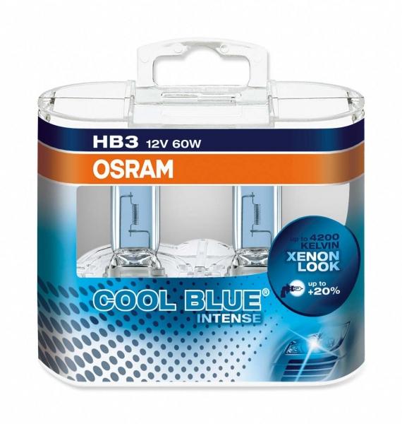 Osram HB3 9005CBI Cool Blue Intense Scheiwerferlampen Duo Set (2 Stück)