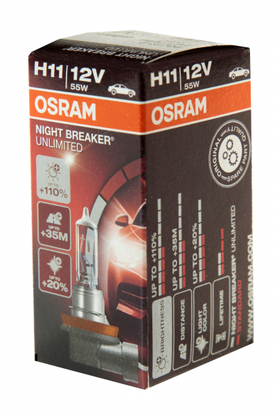 Osram H11 64211NBU Night Breaker Unlimited Halogen Lampe