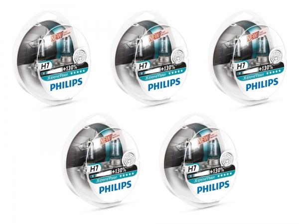 5x Duo Box'n Philips H7 12972 XV S2 X-treme Vision +130% Halogen Lampen (10 Stück)