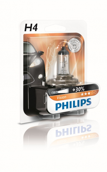 Philips H4 12342 PRB1 Vision +30% Halogen Lampe