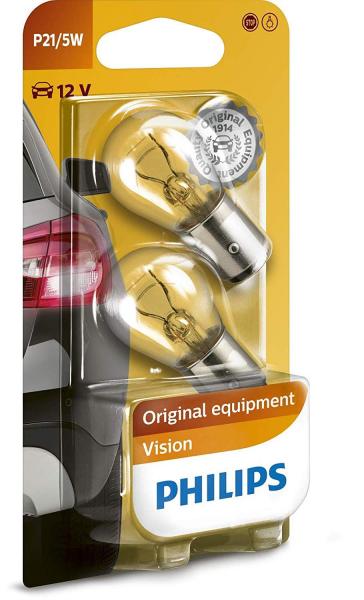 Philips P21/5W BAY15d Vision Bremsleuchten (2er Pack)