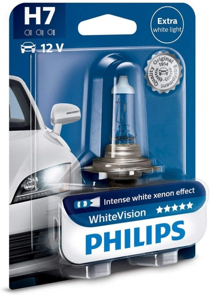 Philips H7 12972 WHVB1 WhiteVision mit Xenon Effekt Halogen Lampe