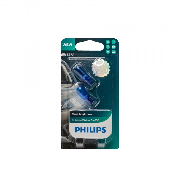 Philips W5W X-tremeVision Pro150 2er-Blister