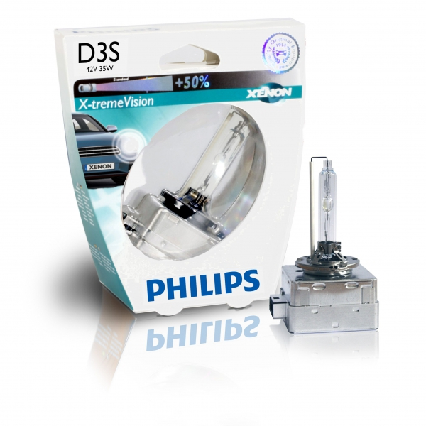 Philips D3S 42403XVS1 X-tremeVision Xenon Brenner in S1 Verpackung