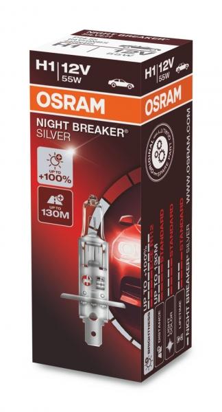 Osram H1 Night Breaker Silver Halogen Scheinwerferlampe 12V 55W