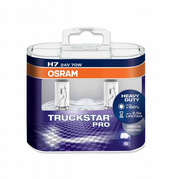 Osram Truckstar Pro H7 Halogen Lampen 24V 70W Duo-Box (2 Stück)