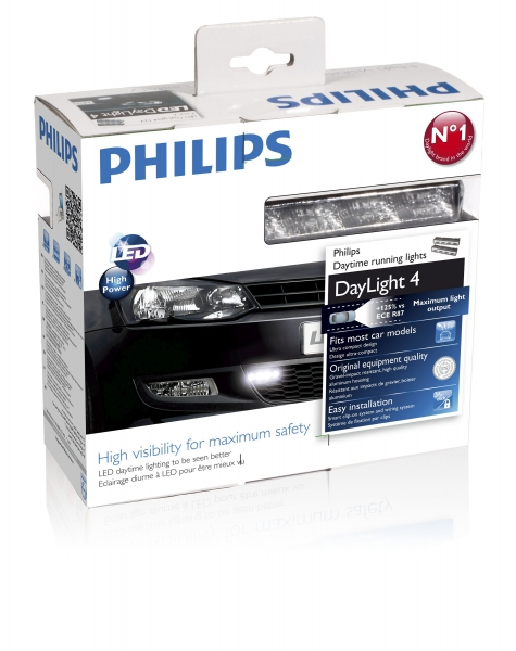 Philips Daylight 4 LED Tagfarhlicht Set (x2)