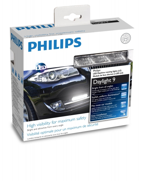 Philips Daylight 9 LED Tagfarhlicht Set (x2)