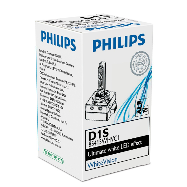 Philips D1S 85415WHV WhiteVision Xenon Brenner in C1 Verpackung
