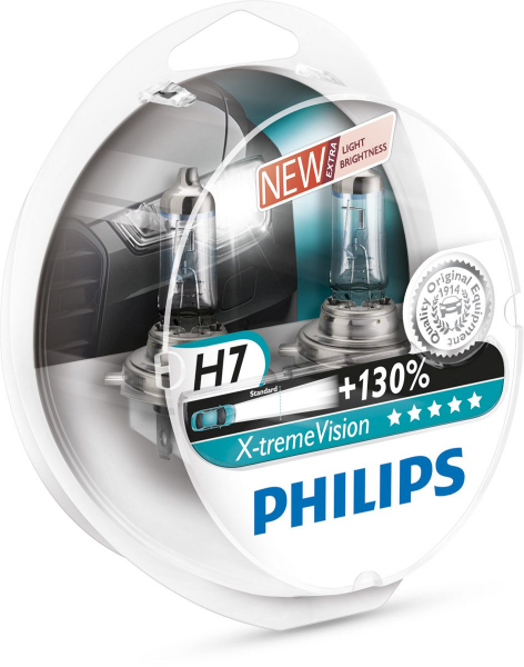 Philips H7 12972 XV S2 X-treme Vision +130% Halogen Lampen Duo-Box (2 Stück)