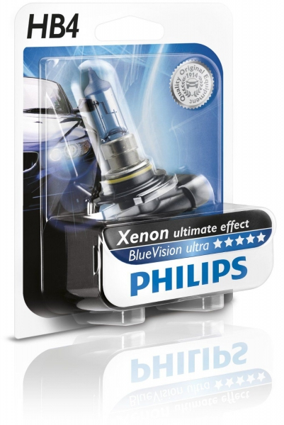 Philips HB4 9006 BVU B1 Blue Vision ultra Halogen Lampe