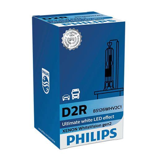 Philips D2R 85126WHV WhiteVision gen2 Xenon Brenner in C1 Verpackung