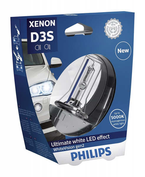 Philips D3S 42403WHV WhiteVision gen2 Xenon Brenner in S1 Verpackung